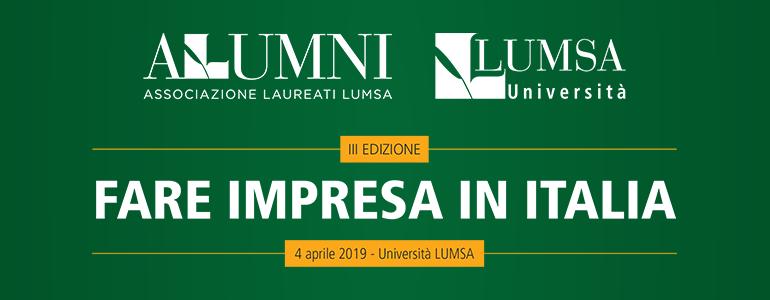 Fare impresa in Italia: III edizione